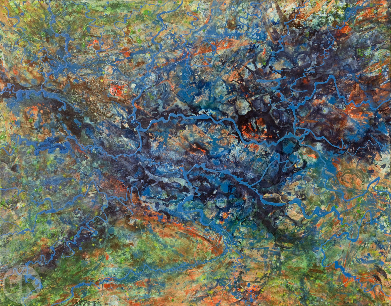 Zeitgenössische Malerei, moderne Gemälde von Gerhard Knell